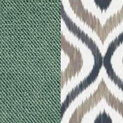 Сине-зеленый / Узор, велюр