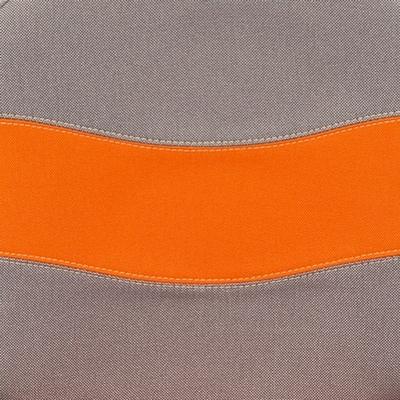 Ткань серая/оранжевая, С27/С23