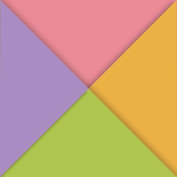 Мультицвет розовый