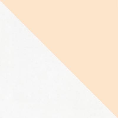 Белый / Стекло бежевое матовое