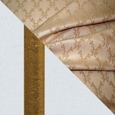Эмаль белая, золотая патина, Лазурь, ткань