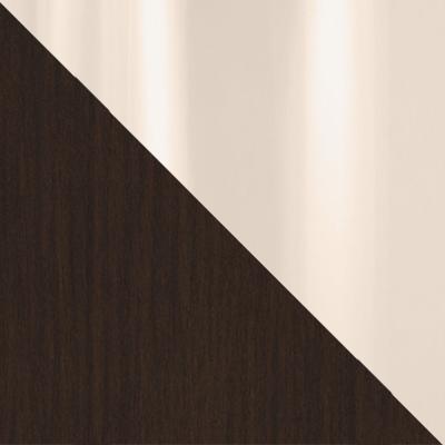 Венге / Бежевое стекло глянец