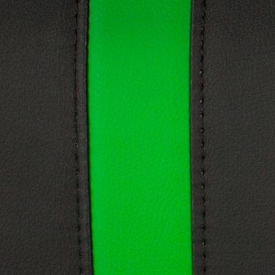Черный / Зеленый, экокожа