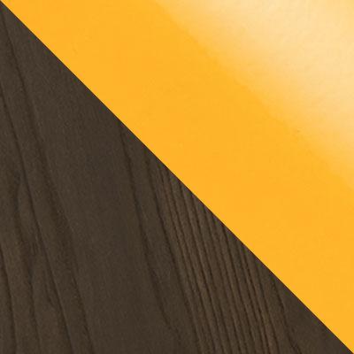 Желтый глянцевый / Темное дерево