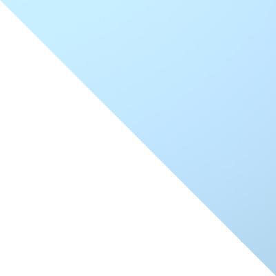 Каркас белый / Фасад голубой