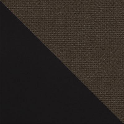 Черный матовый / Коричневый микровелюр