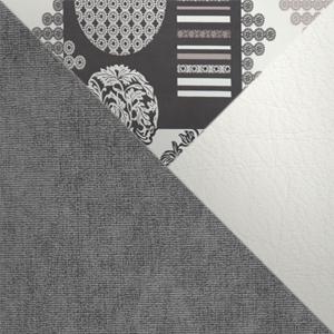 Серый, микровельвет / Белый, кожзам / Принт, жаккард
