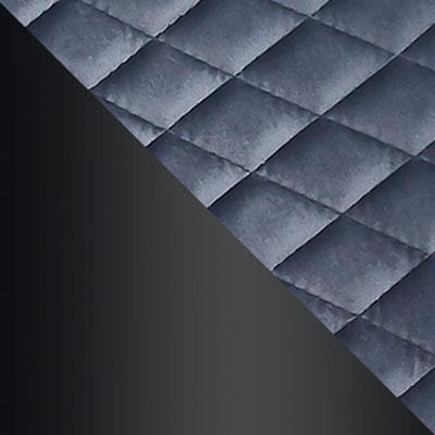 HLR-21 Серый ромб, велюр / Черный матовый