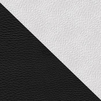 Черный / Белый (экокожа)