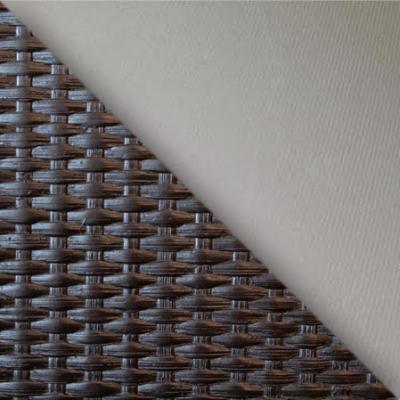 Коричневый ротанг / Светло-серые подушки