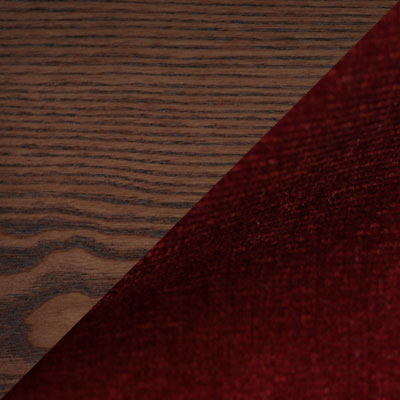 Орех / Ткань бордовая