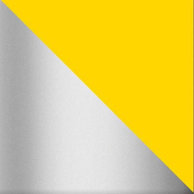 Желтый / Хром лак