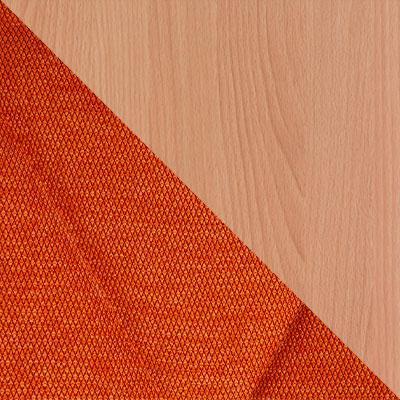 Оранжевый, рогожка / Бук, дерево