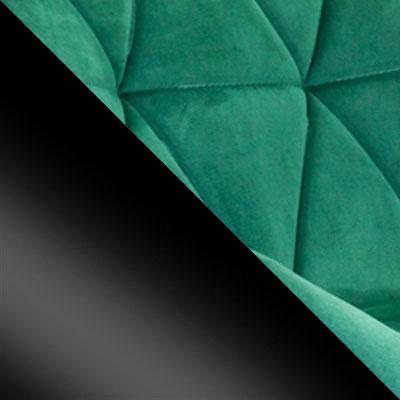 Зеленый, велюр / Черный, металл