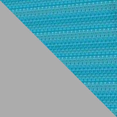 Бирюзовый, ткань / Серый, металл