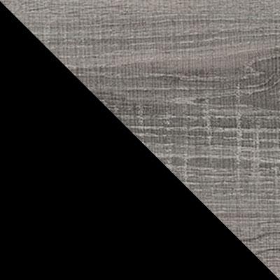 Черный / Дуб Бардолино серый