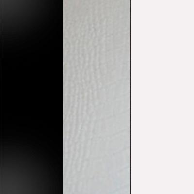 Черный / Кожзам белый / Белый