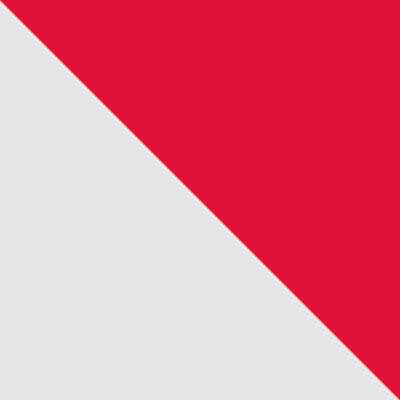 Белый, металл / Красный, ткань