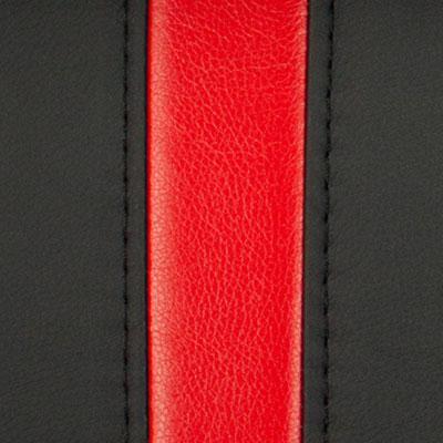 Черный / Красный, экокожа