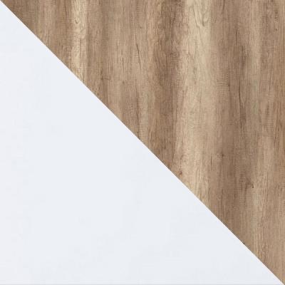 Дуб каньон светлый / Белый глянец