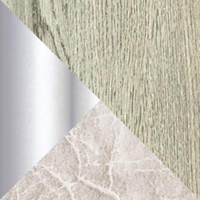 Дуб Навара / Белый мрамор / Серый мрамор, экокожа