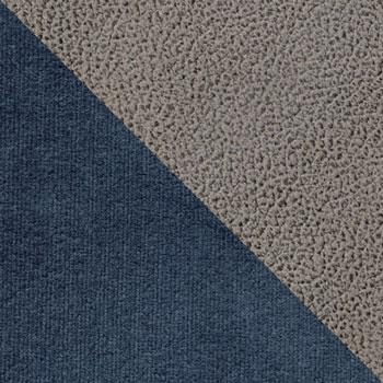 Синий, велюр / Серый, искусственная замша