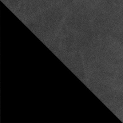 Темно-серый, экокожа / Черный