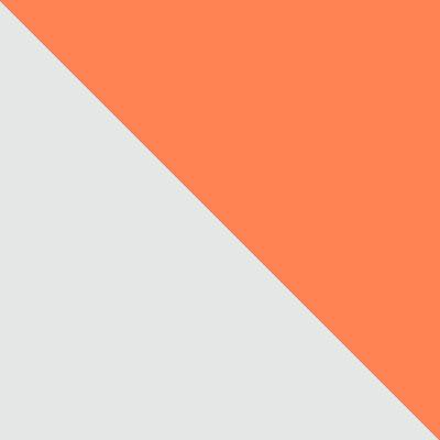 Белый, металл / Оранжевый, ткань