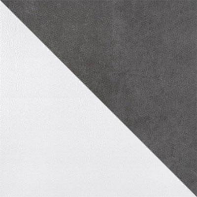 Серый V11, микровелюр / Белый, металл