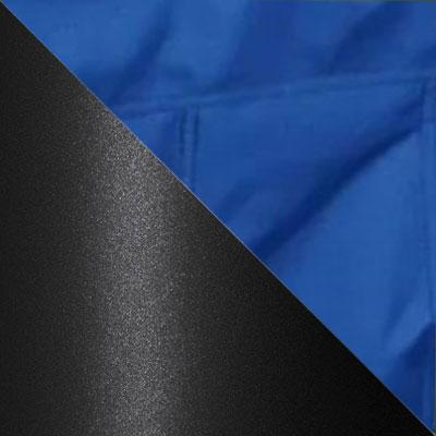 Синий, ткань / Черный, металл