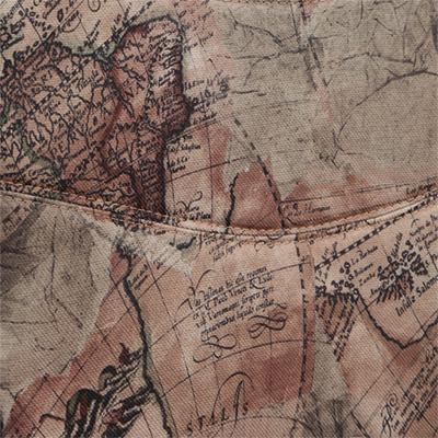 Ткань «Карта на бежевом»