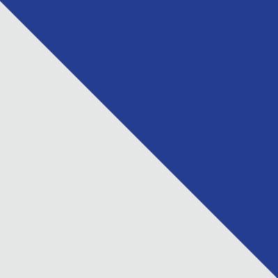 Белый, металл / Синий, ткань