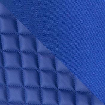 Синий, экокожа, ткань