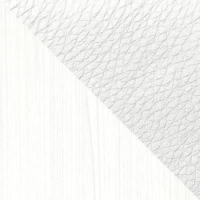Белый, текстура дерева / Белый, экокожа