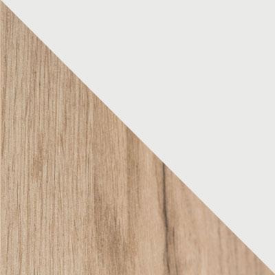 Дуб Крафт серый / Белый глянец