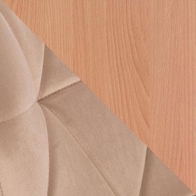 Светло-коричневый, велюр / Бук, дерево