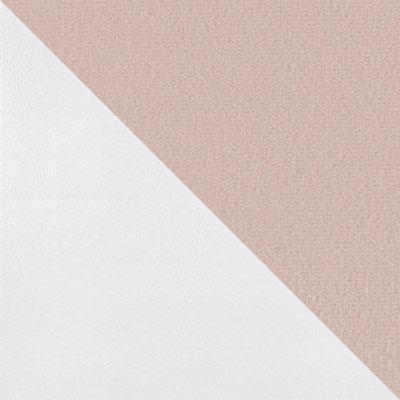 Крем V02, микровелюр / Белый, металл