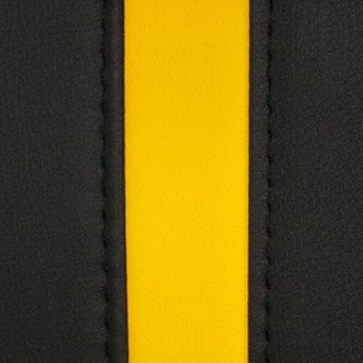 Черный / Желтый, экокожа