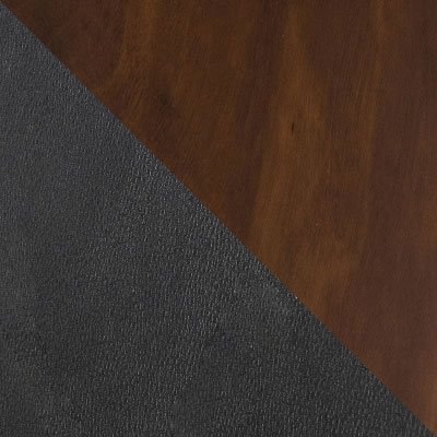 Черный, иск.кожа / Дуб