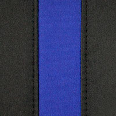 Черный / Синий, экокожа