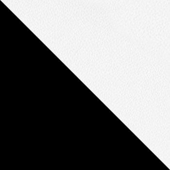 Каркас черный / Кожзам белый