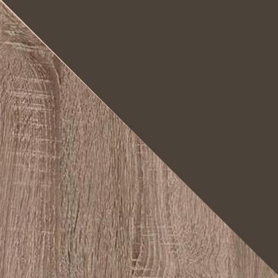 Дуб Сонома трюфель / Кожзам коричневый