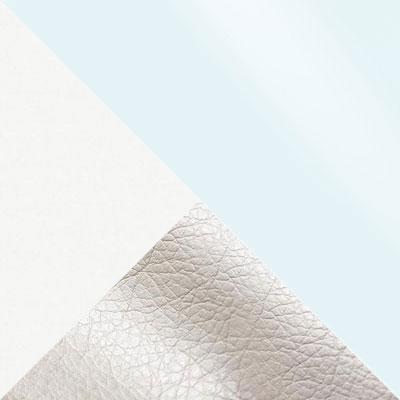 Батлер 08, экокожа / Белый, ЛДСП / Белый, стекло