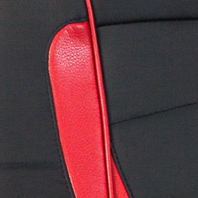 BL+RED черный / красный искусственная кожа