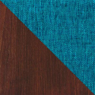 Темный орех / Бирюзовый, рогожка