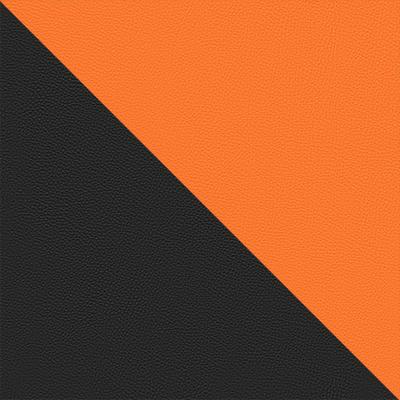 Иск. кожа черный / оранжевый 36-6/14-43
