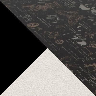 Кофе Хаус / Черный матовый / Линкольн белый, экокожа
