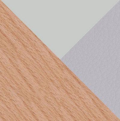 Серый, пластик / Серый, экокожа / Дерево