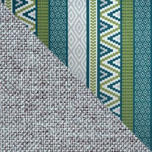 Серый, рогожка / Принт, микровелюр