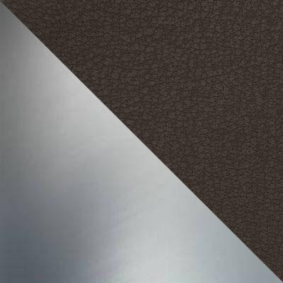 Турин 08 (Темный беж), иск. кожа / Каркас Нержавеющая сталь